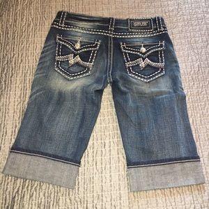 Miss Me Irene Bermuda denim jean shorts